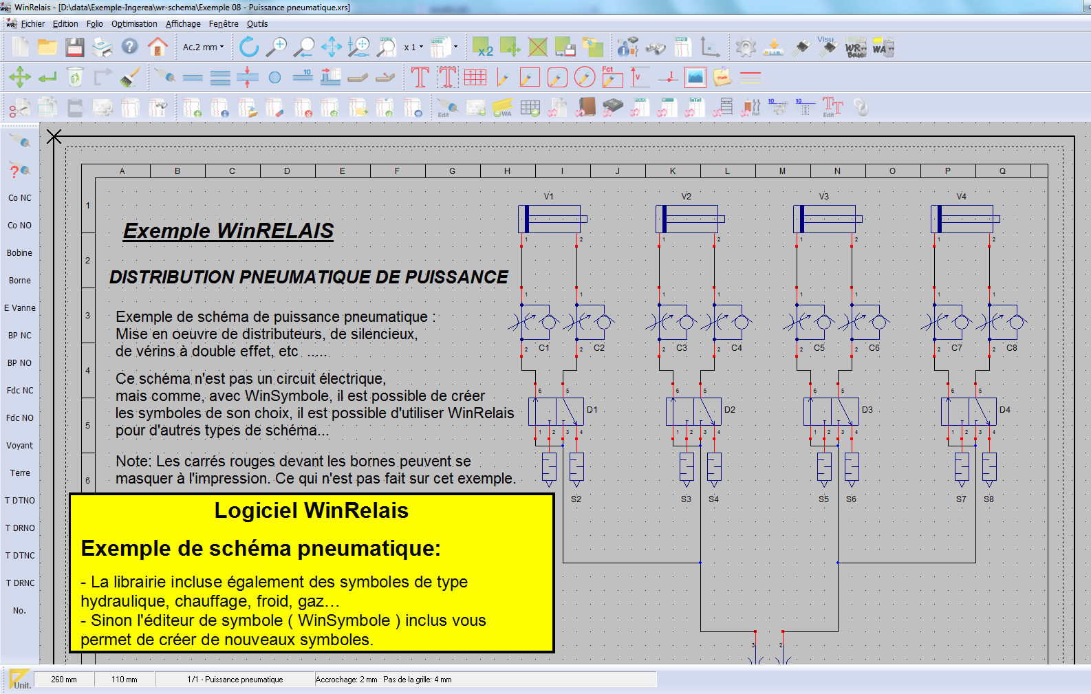 winrelais schema electrique
